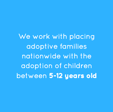 We work with placing adoptive families nationwide with the adoption of children between 5-12 years old.